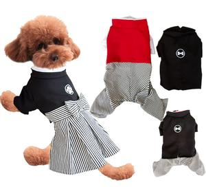 Autumn Dog clothes bowknot dress Spring pet clothing small dog clothes
