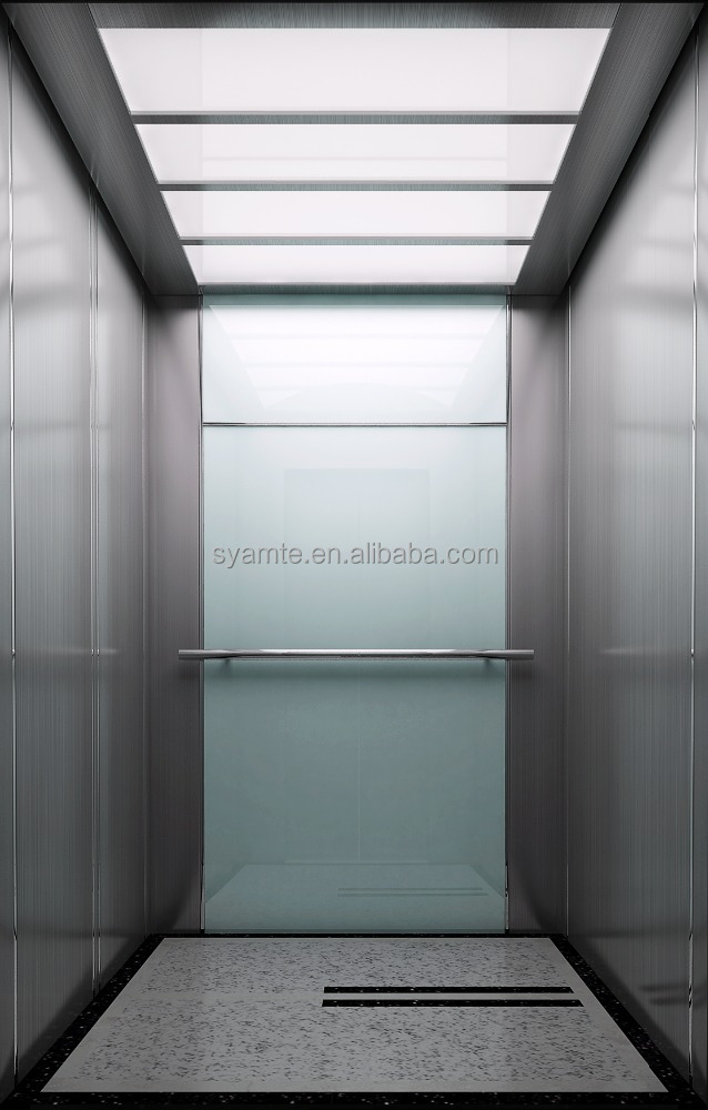 Passenger Lift Permanent Magnet Synchronous Elevator with LED Light