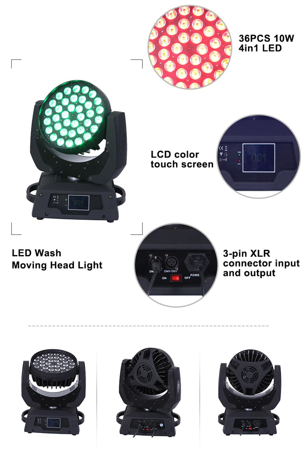 4in1 36pcs Moving Head Light