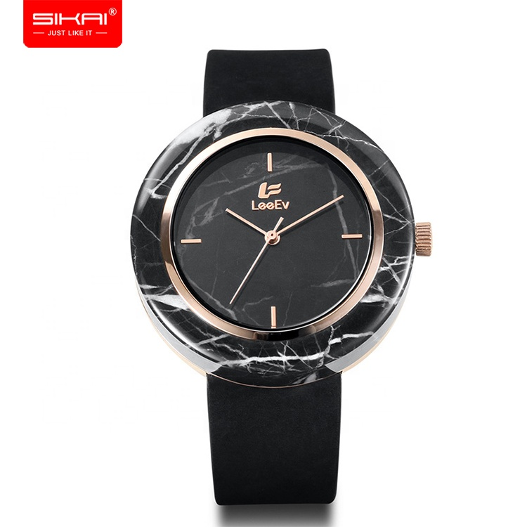 SIKAI fast shipping low MOQ new arrival OEM custom women real marble dial watch фото