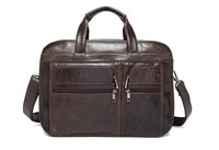 Wholesale Cow Leather Briefcase Shoulder Straps Mens Messenger Bags