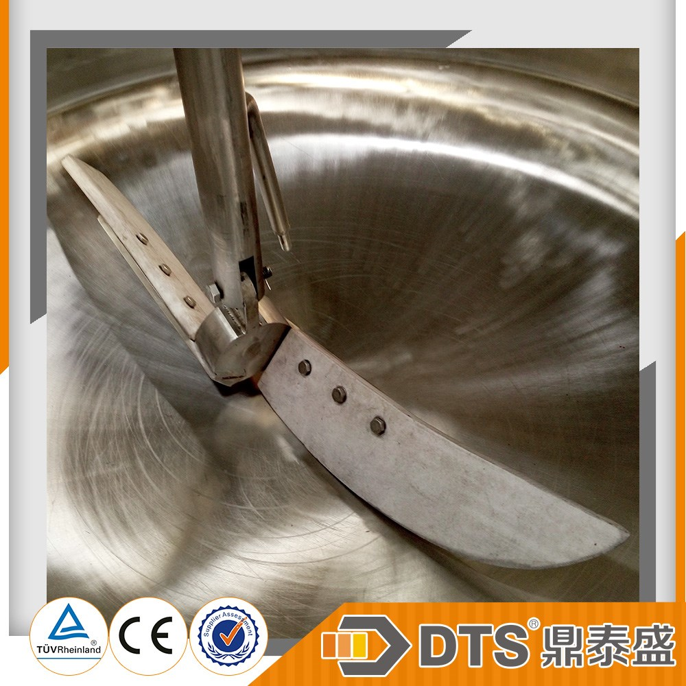 Brand DTS ASME steam jacketed kettle for sweet bean paste