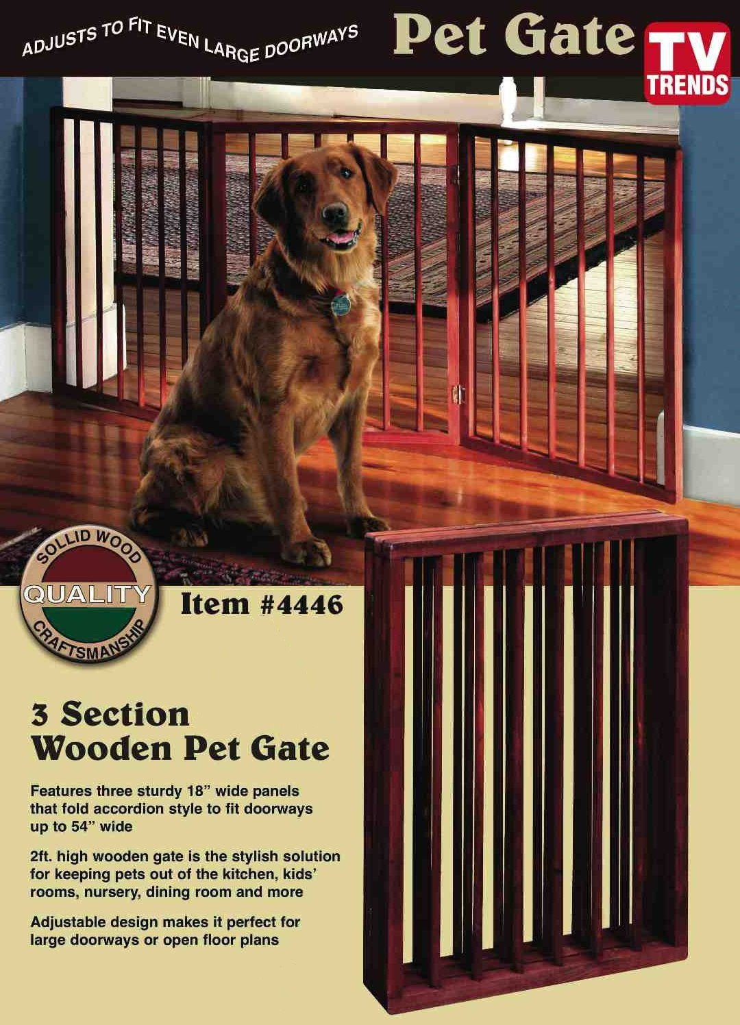 Get Quotations Folding Wood Pet Gate 3 Sections
