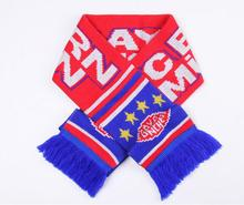 Best selling high quality promotional customer design acrylic knitted soccer sport neck scarf