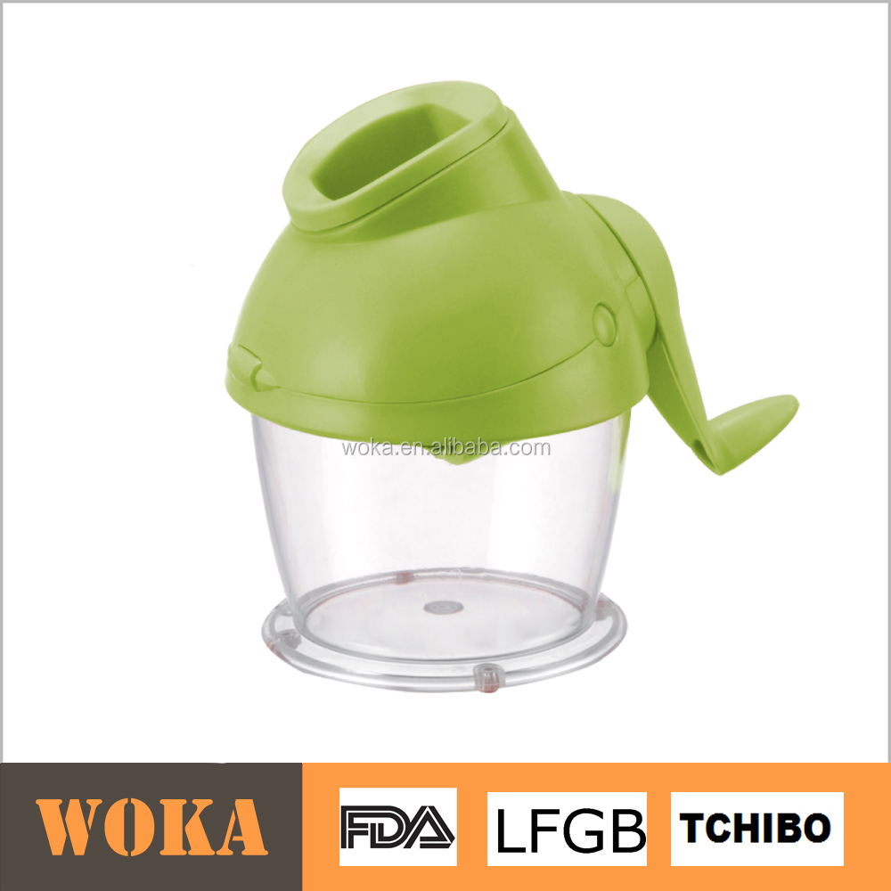 plastic manual food chopper vegetable herb grinder with container