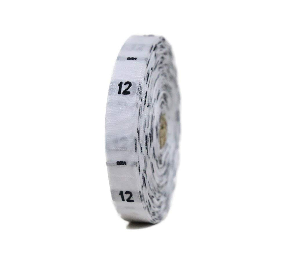 480 Pcs Clothing Size Labels Size Tags White Woven Size No 12