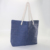 ARTGIMEN Blue Paper Straw Shopping Bag Beach Tote Bag With Cotton String Handle