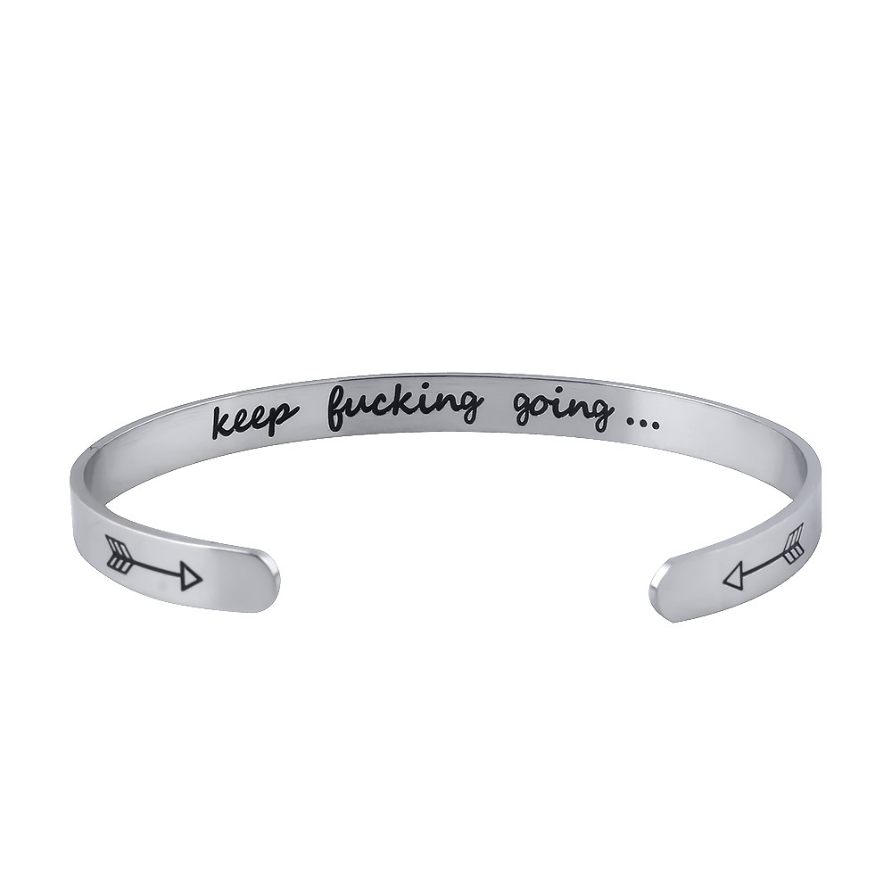 도매 영감 따옴표 fashional bracelet Keeping * 들어가고 그 Stainless Steel bracelet