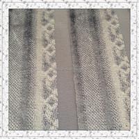 Weft knitting jacquard velvet fabric with two colours stripe design