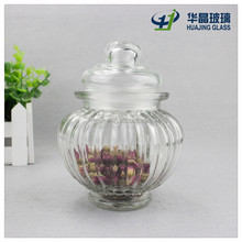 280ml lantern shaped glass herb storage jars with glass lid wholesale