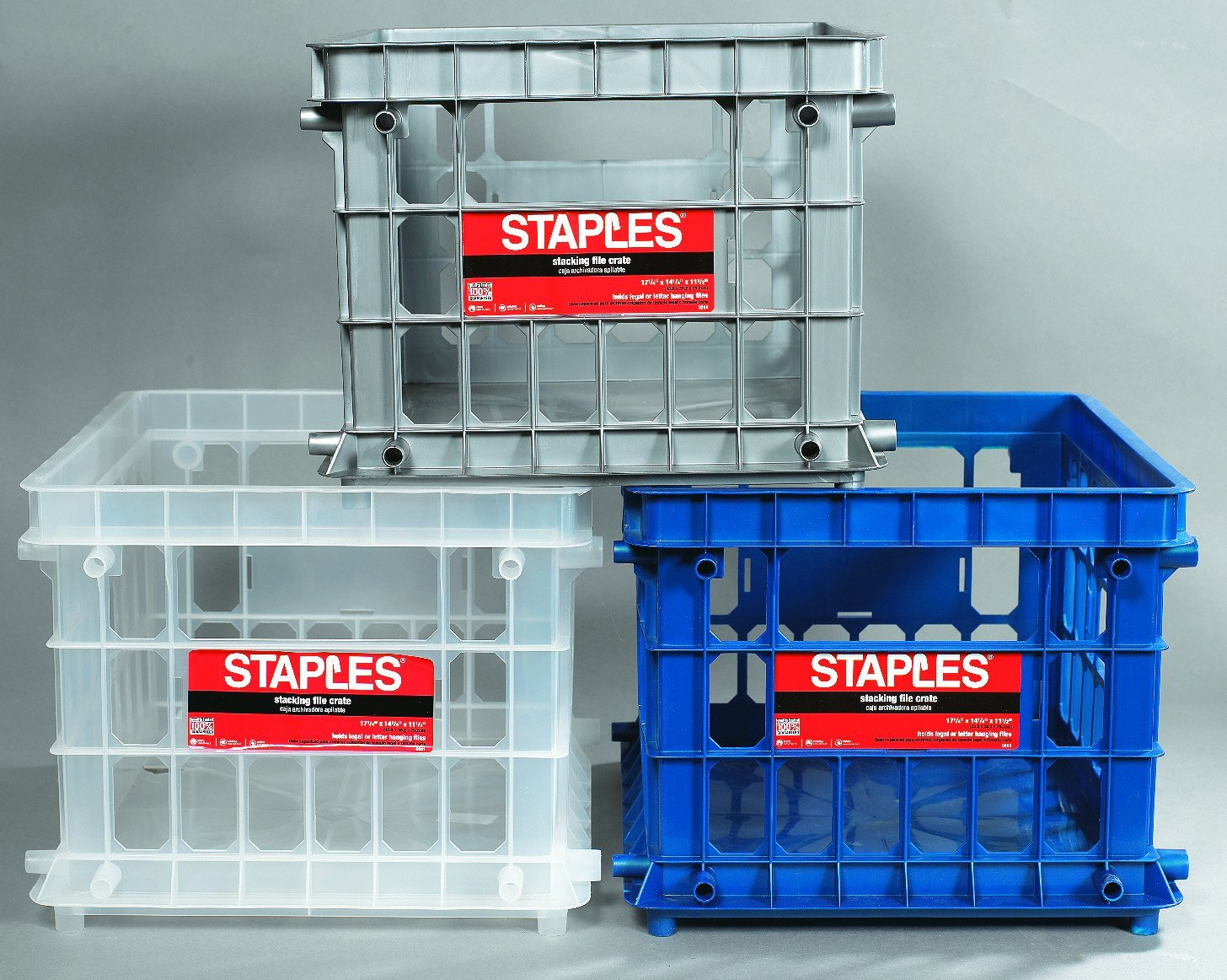 Get Quotations · Staples File Storage Crates, Letter Or Legal Size Hanging  Files (0261STFR.06)