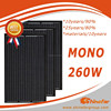 Shinefar mono all black 260w monocrystalline solar panel pv module 250w 255w 260w 270w for solar panel system