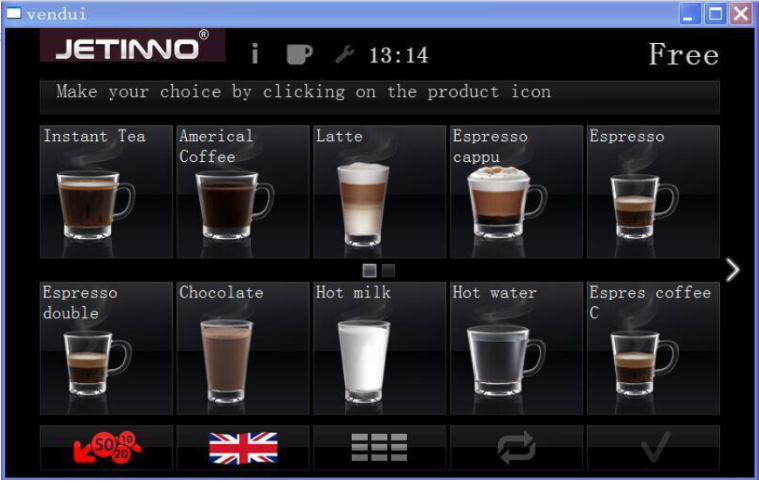 ESFB7C-P Fully Automatic Espresso Coffee Fresh Tea Vending Machine with 27''Touch Panel