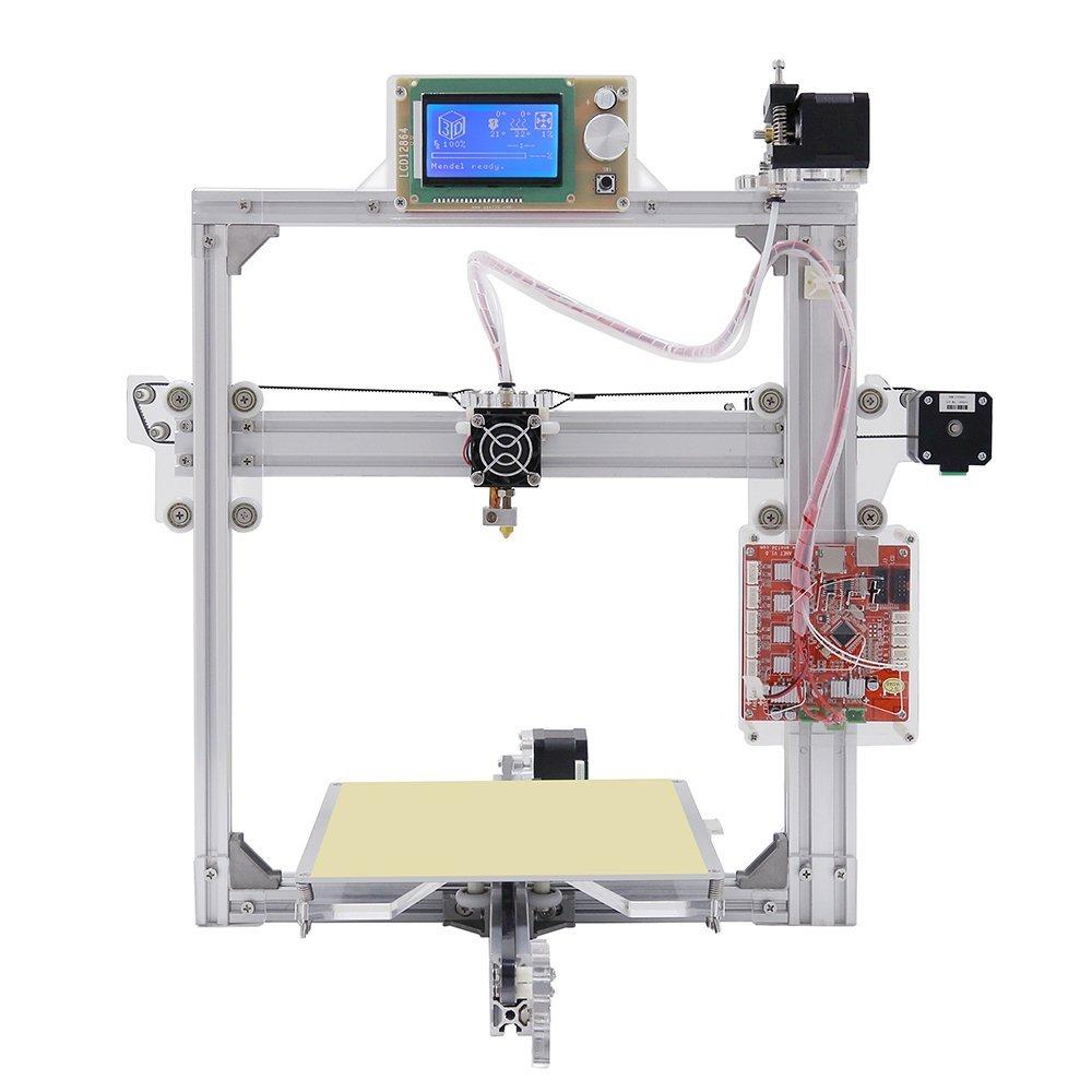 Buy Silver Color Aluminium Frame 3D Printer 6 Options DIY Prusa i3 ...