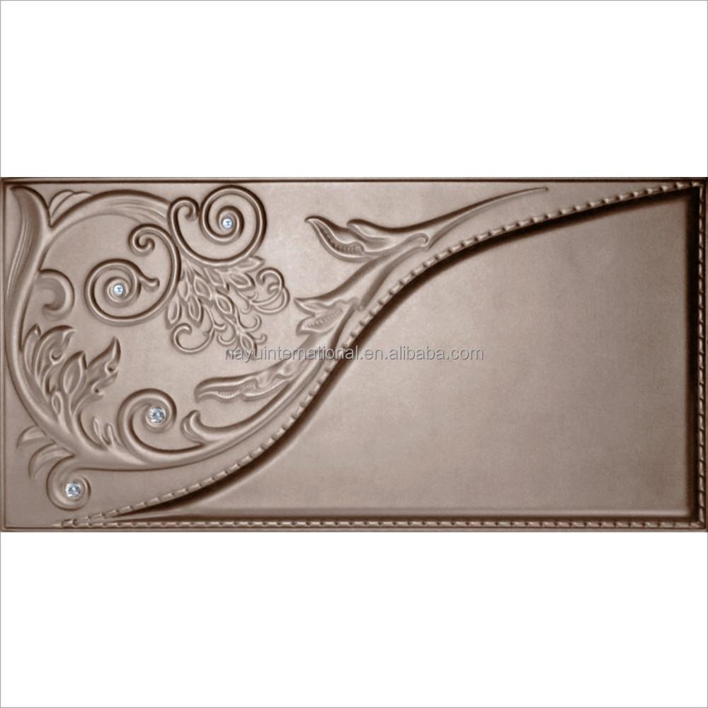 3d suave bolsa de cuero pvc paneles de pared for Paneles de pvc para paredes