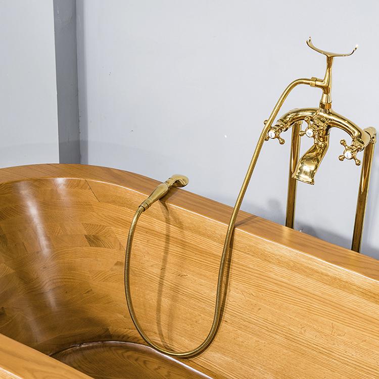 Китайская традиционная вертикальная ручная медная ванна
