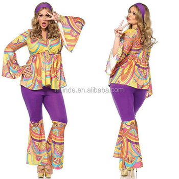 Wholesale Hippie Clothing Urban Ladies Plus Size Bell Sleeve Purple Haze  Hippie Costume Set New Fashion Design - Buy Wholesale Hippie  Clothing,Hippie
