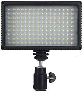 Walmeck Portable Camera Photo Lighting LED Video Photography Fill Light for DSLR Cameras High Brightness White Filter and LCD Display