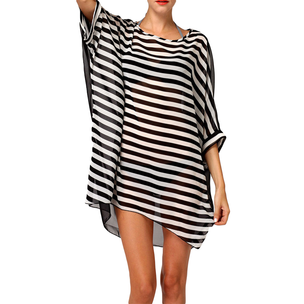 426f9ac96c3 Get Quotations · Plus Size Sexy Bathing Suit Cover Ups Beachwear Summer  2015 Beach Wear Striped Swim Suit Cover