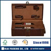 2014 best quality double leather wine carrier