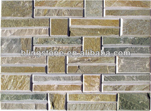 natural stacked slate stone veneer in tumbled edges for decoration