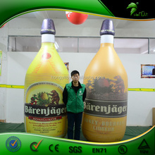 Outdoor Inflatable Advertising Model Customized Size Inflatable Yellow/Green wine Bottle OEM