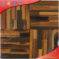 MK1211 3D Vintage & Fashion Special Tile Design Mosaic Old Boat Wooden Interior Wall Decoration