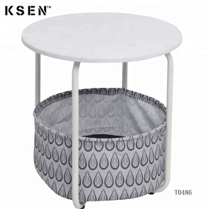 modern corner table with storage T0486