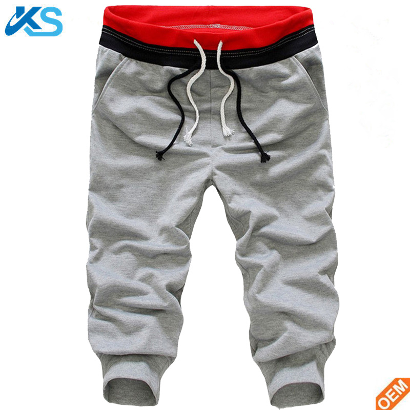 2017 fashion heren Cropped Broeken Joggers Hiphop Harem Dance Baggy Fitness Casual Capri Broek Joggingbroek