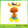 Hot sale durable baby soft animal giraffe toy teether plush baby toy