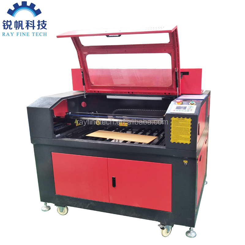 co2 laser cutting machine price RF--6090-co2-80w with multi laser heads