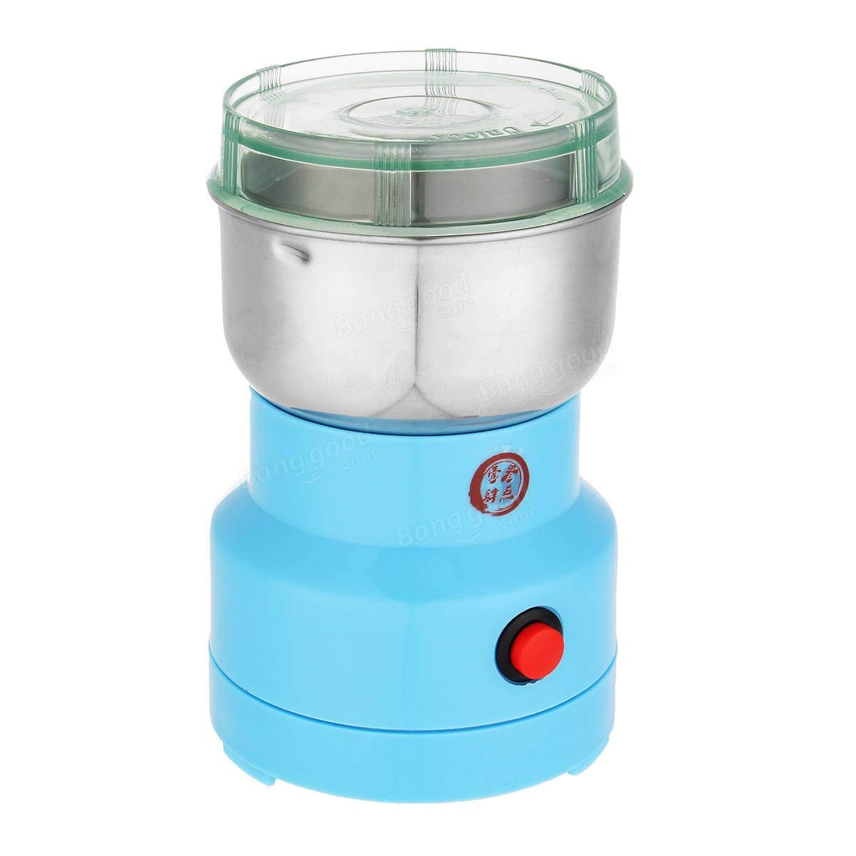 220V Electric Herbs/Spices/Nuts/Grains/Coffee Bean Grinder Mill Grinding - Tools & Home Improvement Home Appliance Part - 1 x Grain grinder, 1 x Brush