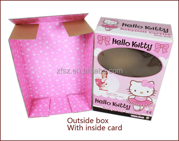 paper box for baby carrier display paper package with PVC windows