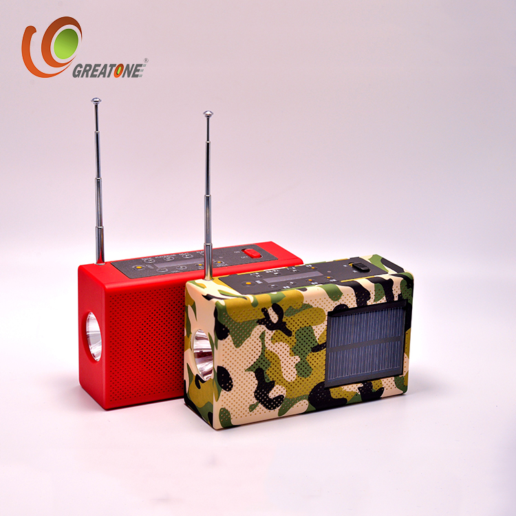 Emergency Surya Engkol Radio TF Kartu MP3 Pemain, Bluetooth Speaker, Senter dan Power Bank 2000 MAh