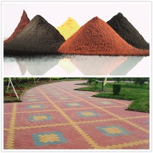 Iron oxide cement colour synthetic iron oxide red/yellow/black pigment powder