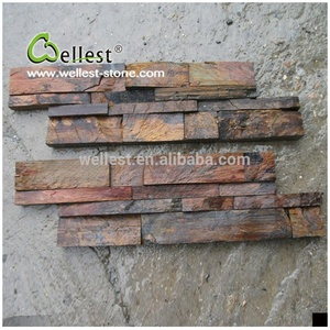 ST-015NZ China Natural Slate Wall Cladding Stone Veneer Panel