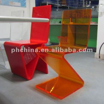 Jad-351 Lucite Color Acrylic Dining Chair,Color Zigzag Chair ...