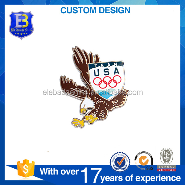 factory direct sale OEM design enamel printing metal pin badge
