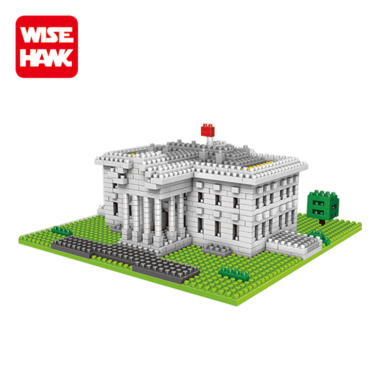 Wisehawk kids nanoblock White House architecture model online toy educational game