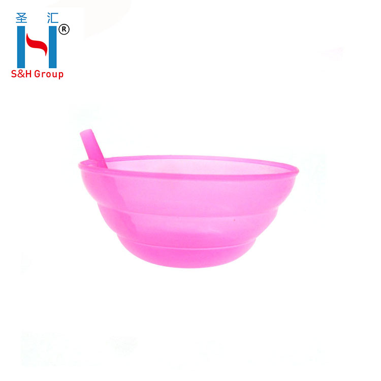 Reusable wholesale with straw salad plastic bowl