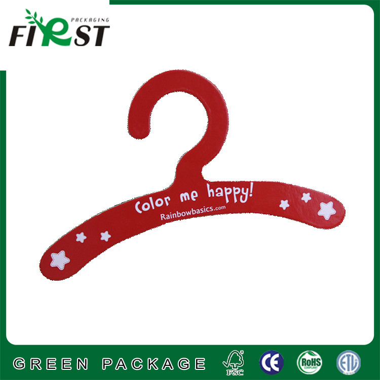 Nature color material recycled paper cardboard clothes hanger