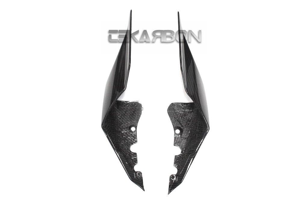 2013 Bestem CBYA-R109-TSP Black Carbon Fiber Tank Side Panel Fairings for Yamaha YZF R1 2009