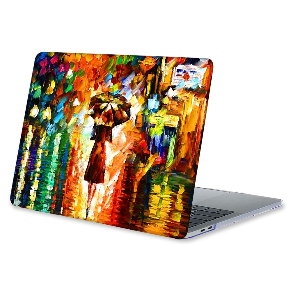 Crystal Clear Plastic Hard Case For Macbook New Air 13 2018 A1932 Cover Oil  Painting Print Case For Mac book Pro 13