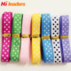 High Quality White Dots Red Grosgrain Ribbon