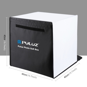 Factory PULUZ 40cm Photo Softbox Portable Folding Studio Shooting Tent Box Kits with 5 Colors Backdrops