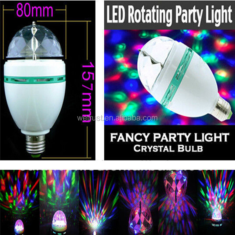 Party Mini 3W LED Full Color Rotating Disco Light