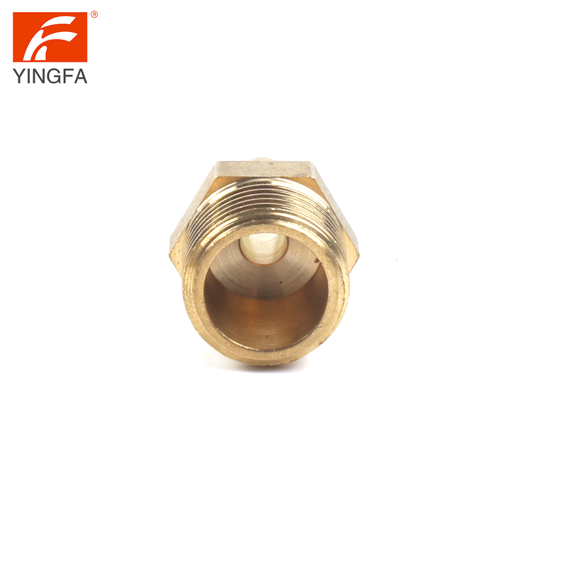 66112-46 Brass Hose Fitting, Reducer Adapter,1/4 ID Barb x 3/8 MIP