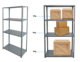 Warehouse storage racking system in supermarket