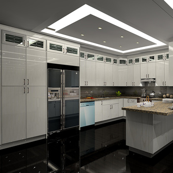 Custom Design Classic Solid Wooden Modular Kitchen Cabinets Buy