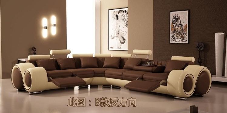 Conjunto de sofá moderno sofá de couro sofá de móveis de